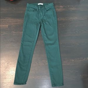 Green Madewell skinny jeans
